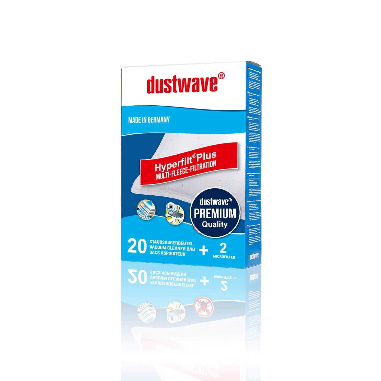 Mega Pack – 20 dustwave Premium de bolsas para aspiradoras Rowenta – ro 6385/ro6385 Silence Force Compact – Aspiradora – Vehículo de bolsas