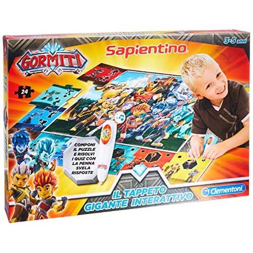 Clementoni - 16193 - Sapientino - Il Tappeto Gigante Interattivo Gormiti - Made in Italy, puzzle bambini, gioco educativo bambini 3 anni, gioco elettronico parlante (versione in italiano)