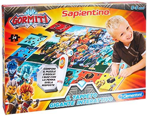 Clementoni - 16193 – Sapientino – La Alfombra Gigante interactiva Gormiti – Fabricado en Italia, Puzzle para niños, Juego Educativo para niños de 3 años, Juego electrónico parlante