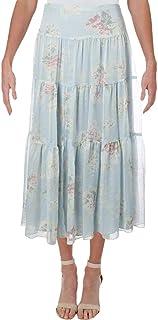 LAUREN RALPH LAUREN Womens Pauldina Floral Tiered Midi Skirt