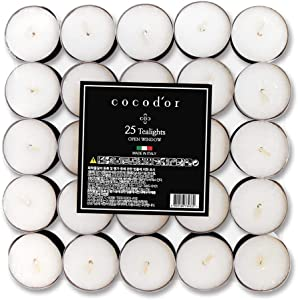 Cocodor Scented Tealight Candles/Open Window / 100 Pack / 4-5 Hour Extended Burn Time/Made in Italy, Cotton Wick, Scented Home Deco, Fragrance