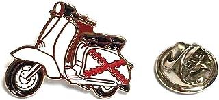 Spilla per vestito Vespa Lambretta Aspa Borgogna | Spille regalo originali | Per camicie, vestiti o per il tuo zaino | Reg...