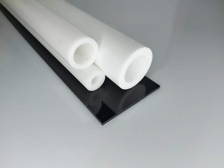 ca.13,8kg Teflon PTFE Hohlstab-Rohr weiß Ø 130//95mm länge 1000mm