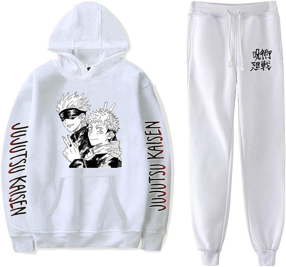 Jujutsu Kaisen Hoodie Unisex Tracksuit Two Piece Set Long Sleeve Women Mens Hoodies+Sweatpants Anime Clothes
