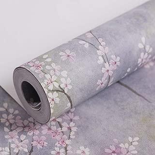 Los murales del papel pintado de la flor de cerezo japonesa son adecuados for la decoración de la pared del hogar, decoración de la pared del hotel, sala de estar, dormitorio, papel pintado de la coci