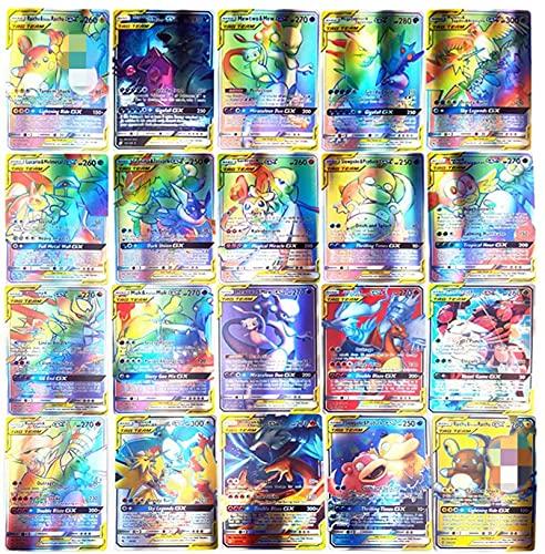 SunAurora 100 Pezzi GX Carte(63 Pezzi TAG TEAM Carta), Carta Collezionabile,Flash Carte, Regali per Bambini