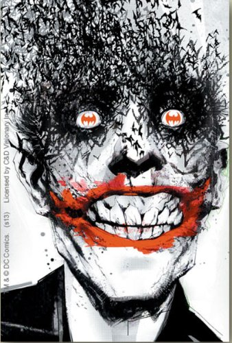 JOKER Eyes Bats pipistrelli STICKER ADESIVO, Officially Licensed DC Comic Villain Artwork, 5' x 3.5' - Long Lasting Die-Cut Vinyl Sticker DECAL