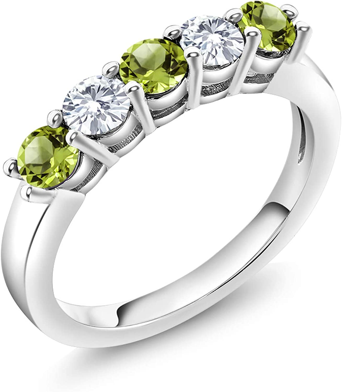 Gem Stone King 925 Sterling Silver Green Peridot and Timeless Br