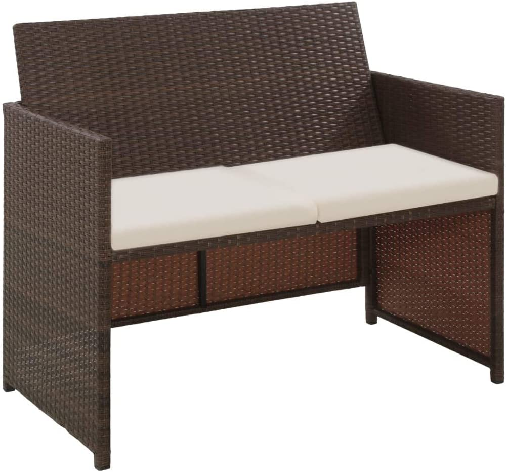 Unfade Memory Free shipping Garden Sofa Benches Outdoor Seater Max 47% OFF Seating 2 with