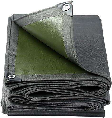 Tarpaulin HUO Bache Imperméable, Linoléum De Bache De Parasol Résistant à l'usure, Matériel Fort De DIY, 600g   M2 (Couleur   argent gris, Taille   4  8m)