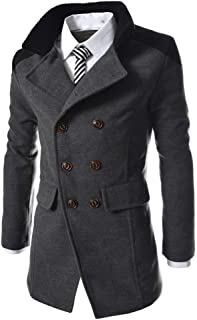 Giacca Da Uomo Winter Trench Warm Outwear Button Smart Taglie Comode Coat Coat Jacket Giacca Invernale Coat Termico Cappot...