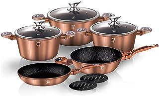 Berlinger Haus Juego de utensilios de cocina de 10 piezas, línea metálica de cobre,