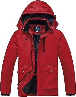 TBMPOY Men's Ski Snowboarding Jacket Waterproof Windproof Mountain Rain Jacket Winter Warm Snow Coat