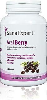 SanaExpert Acai Berry, Suplemento Nutricional con Extracto Puro de Bayas de Acaí, 100% Natural, Libre de Gluten, Lactosa, ...