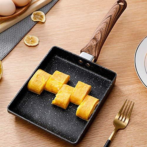 ZXL Backset Japanische quadratische Jade-Bratentopf-Backwerkzeuge, Küchenutensilien Antihaft-Topf-Ei-Reisform, Schwarze Aluminiumlegierungsform