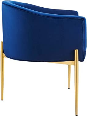 Modway Savour Tufted Performance Velvet Accent Chair in Navy, One