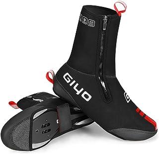 DRALO Couvre-chaussures de cyclisme d'hiver pour homme et femme - Résistantes à l'eau - Thermiques - Coupe-vent