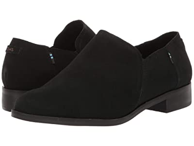 TOMS Shaye Low (Black Suede) Women