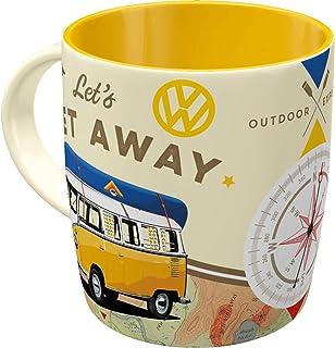 Nostalgic-Art - Volkswagen Retro kaffemugg – VW Bulli T1 – Låt oss vara på away, stor licensierad kopp som Vintage VW Bus ...