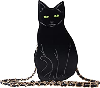 Womens Black Cat Purse Dinosaur Crossbody Bags Girls Flamingo Animal Purse Bags Chic Clutch Bags