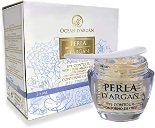 OCEAN D'ARGÁN, Anti Wrinkle Eye Cream, PERLA D'ARGAN Eye Gel with Argan Oil, Vitamin E, Arnica and Caviar Extract- Get rid of Dark Circles, Puffiness and Eye Bags. Best Eye Cream for men and women