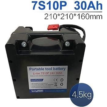 24V 60Ah 7S20P Li-ion batería dedicada a sillas de ruedas eléctricas Batería de plomo-ácido reemplazable 210 * 210 * 160mm: Amazon.es: Bricolaje y herramientas