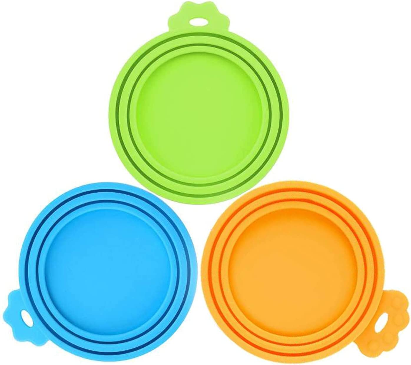 SHENQIDZ 3 Pack Pet Food Can Covers Lids Universal BPA Free & Dishwasher Safe/Silicone Dog&Cat Food Can Lid Covers