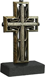 Unity Cross Rustic Collection Hand Scraped Rustic Beech with Vintage Bronze Color Center
