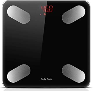 YOMYM Bluetooth Bluetooth 4.0 Digital Smart Body Fat Balance, 59 Related Data Composition Analyzer Compatible with iOS and...