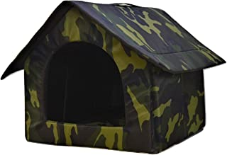 Foodie Puppies Soft & Light Weight Designer Luxurious Foldable Pet Tent Kennel House for Puppies & Dogs (Hut, 60 x 60 x 60...