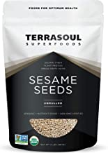 Terrasoul Superfoods Organic Unhulled Sesame Seeds, 2 Lbs - Gluten Free, Raw, Keto Friendly