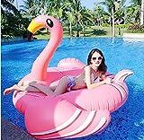 Beach Toy ® - Flotador Gigante para Piscina Flamenco Rosa, tamaño XXL: 190 x 190 x 130 cm, Entrega Ultra rápida