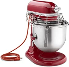 KitchenAid KSMC895ER 8-Quart Commercial Countertop Mixer with Bowl-Guard, 10-Speed, Gear-Driven, Empire Red