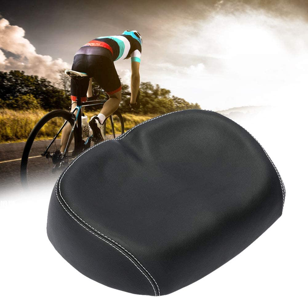 Details about  /Bicycle Seat Wide Bike Seat for Comfort Universal Waterproof Durable Bike Saddle