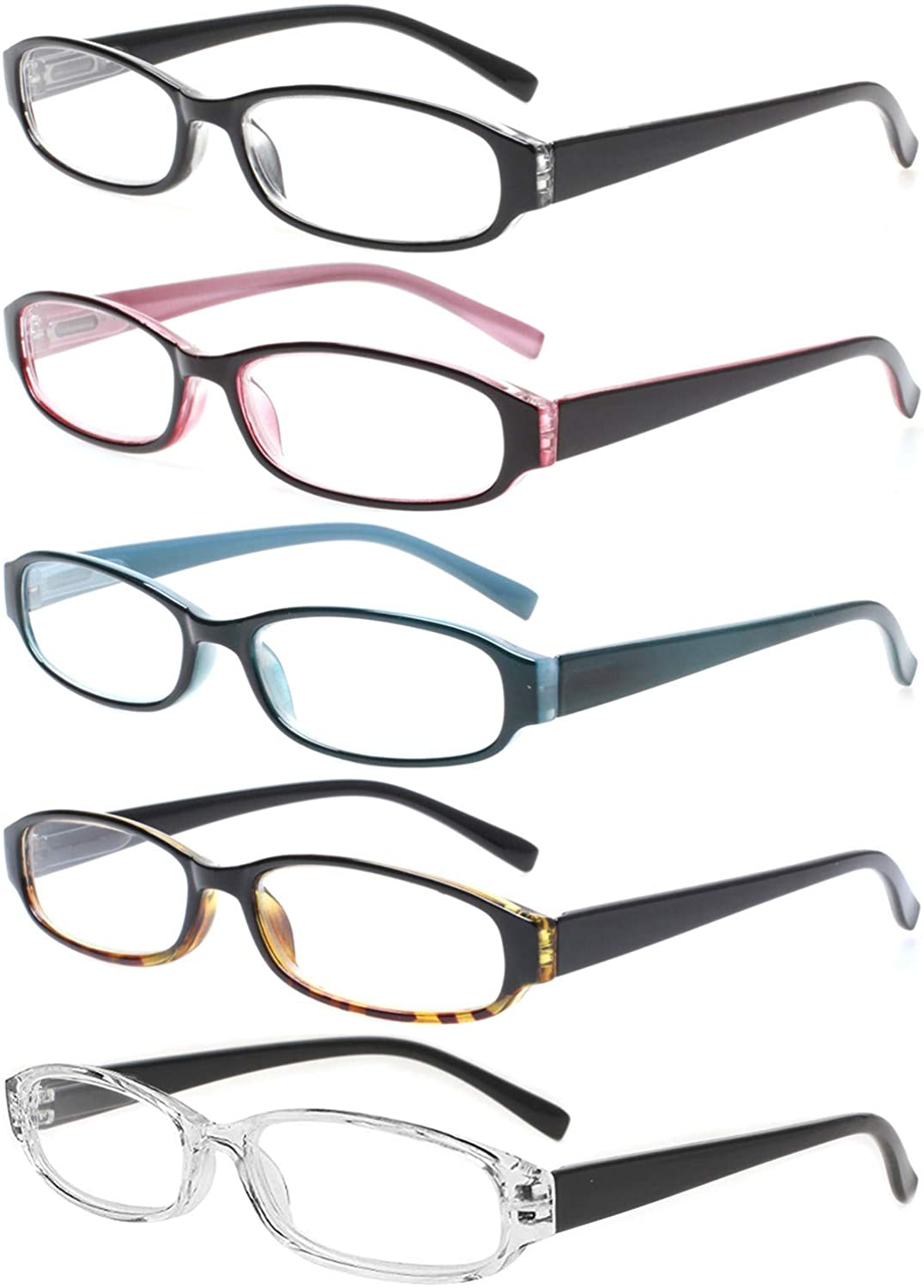 Reading Glasses 5 Pairs Spring Rea Max 48% OFF Quality Fashion Hinge Max 90% OFF Comfort