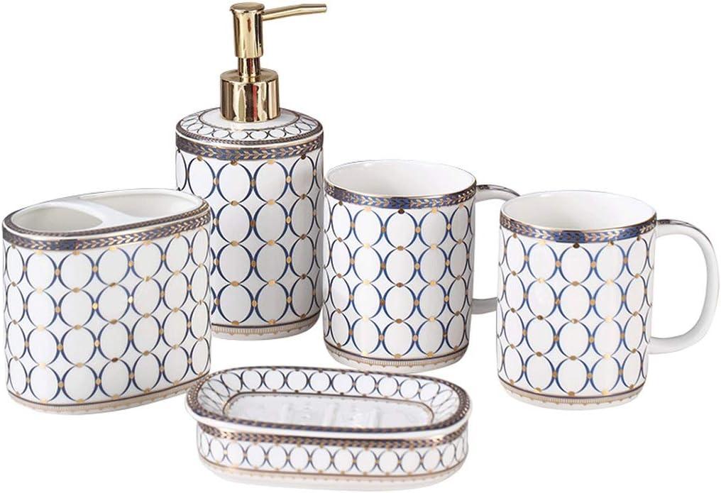 Ultra-Cheap Deals LEGU Soap Dispensers Ceramic Bath 5-Piece Max 43% OFF Dispenser Accesso