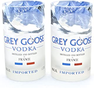 Grey Goose Vodka Glasses - Tumblers- Made From Recycled Bottles (SET OF 2)