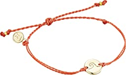 Gold Plated Wave Coin/Coral String