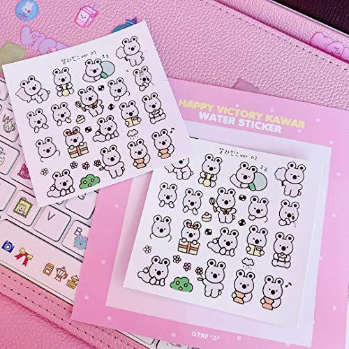3pcs/lot Lovely Animal Koala Stickers Luggage Phone Keyboard Hand Books Cartoon Creative Diy Paste Tools Stationery Stickers