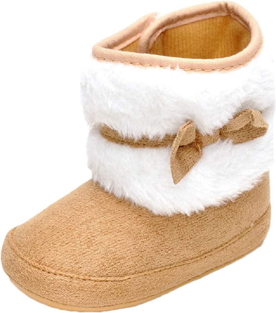 Yicornchen Baby Girl Bowknot Winter Snow Anti-Slip Mi Warm Special Campaign At the price of surprise Boots