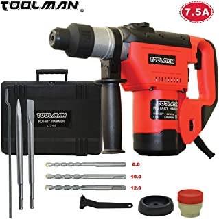 Lion Tools LT3103 Toolman Electric Power Rotary Hammer Drill Driver 7.5 Amp For Heavy Duty Corded works with DeWalt Makita Ryobi Accessories