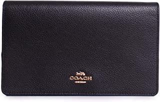 COACH Women's Polished Pebbled Leather Fold-Over Crossbody
