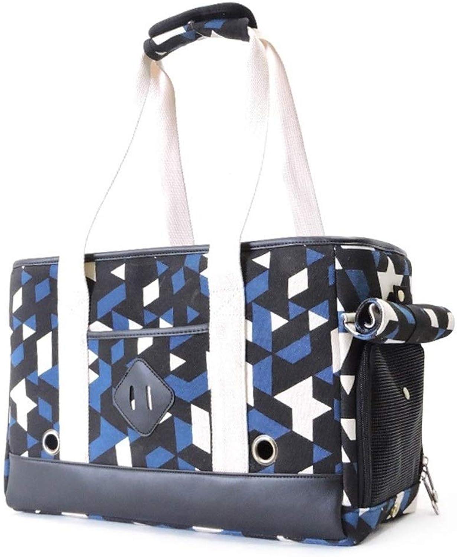 HEJUNF CA Pet Out Portable Handbag cat cage cat Bag pet cat Supplies (color   bluee, Size   42  18  28cm)