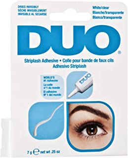 DUO Eyelash Adhesive Clear – 7 gms - Transparent – Formaldehyde Free – Paraben Free – Sulphate Free – Waterproof – Made In USA – 1 Unit - Ideal for Strip False Lashes