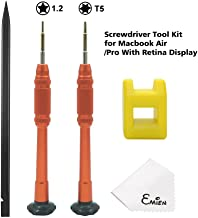 EMiEN Macbook Screwdriver Set Torx T5 5 point Star 1.2mm Pentalobe Screwdriver Repair Tool Kit With Magnetize Tool for Macbook Air/Pro With Retina Display
