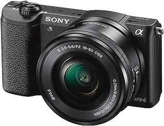 كاميرا سوني الفا a5100 بعدسات 16-50 ملم - دقة 24.3 ميجابيكسل غير عاكسة، اسود