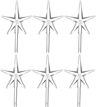 Boao 6 Pieces Clear Stars Ceramic Christmas Tree Lights Plastic Light Decorations for Christmas Tree Ornaments