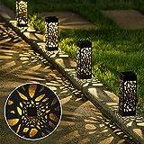 ソーラーライト 埋め込み式 アウトドアパスライト ガーデンライト 屋外 電球色 装飾照明 IP65防水 エコ 防災 アンティーク 和風 おしゃれ 自動点灯/消灯 玄関/庭/芝生/車道/歩道/公園/ガーデン/ベランダに最適 6個セット