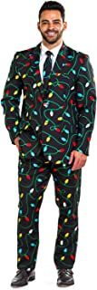 Men's Christmas Suit String of Lights Blazer+Tie and...