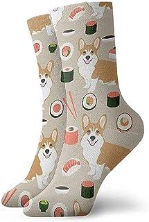 Dydan Tne, Niños Niñas Loco Divertido Sushi japonés Divertido Corgi Perros Calcetines Lindos del Vestido de la Novedad
